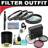 デラックス7Pieceフィルタキットwhich a + 1+ 2+ 4+ 10クローズアップマクロフィルターセットwithポーチ+高解像度3点フィルターセット( UV、蛍光灯、光板) + 6点ELUXEクリーニングキット+レンズアダプタチューブ(必要な場合) + Lenspen +レンズキャップキーパー+ DB ROTH Micro Fiber Cloth For The Nikon d5100Digiatl SLRカメラにはこれらの任意の(18–135mm、18–105mm、18–70mm、16–85mm、35mm Nikonレンズ