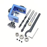 木工ポケット穴検索パンチ治具キット+ステップドリルビット木製ツールセット