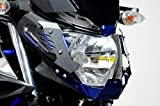RIDEA アルミヘッドライトカバー&アルミショートスクリーンセット ブルー [CGS-Y01-BE] [YAMAHA MT-25/MT-03] CGS-Y01-BE