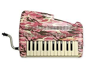SUZUKI スズキ 鍵盤リコーダー アンデス andes 25F ピンク迷彩柄