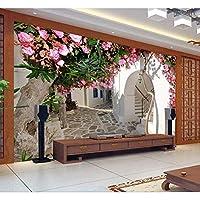 Jason Ming カスタム写真の壁紙ヨーロッパスタイルの3D花籐の壁紙壁紙リビングルームの寝室の壁紙壁画-120X100Cm