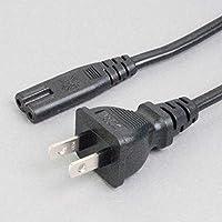 ケーブルダイレクト 電源ケーブル 耐トラッキング対策2Pプラグ-2Pメガネ型ソケット 長さ2m 定格7A-125V ACJ-2TPS-WOG-02