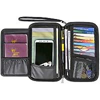 RFID Passport Holder Travel Wallet for Men and Women