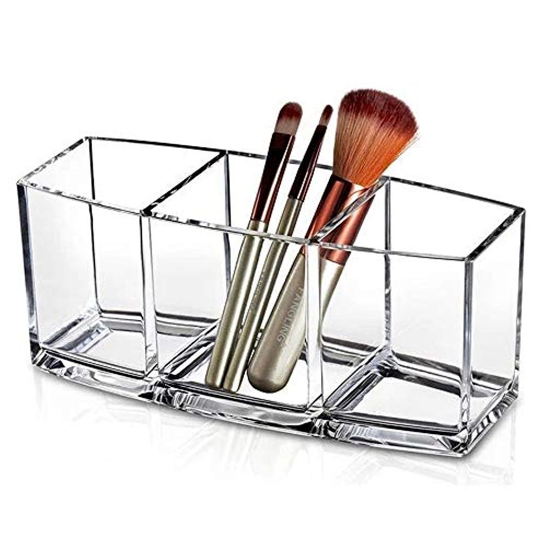 整理簡単 シンプルなクリアアクリル化粧品化粧オーガナイザー収納ケース棚ディスプレイ用パレットアイシャドウ頬紅化粧品 (Color : Clear, Size : 18*7*8CM)