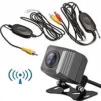 OBEST バックカメラ 車載カメラ ガイドライン 小型 100万画素 高画質リアカメラ 角度調整可能 水平解像度1000本 防塵防水IP68 広角170度 2.4GHzワイヤレスキットセット 12V専用
