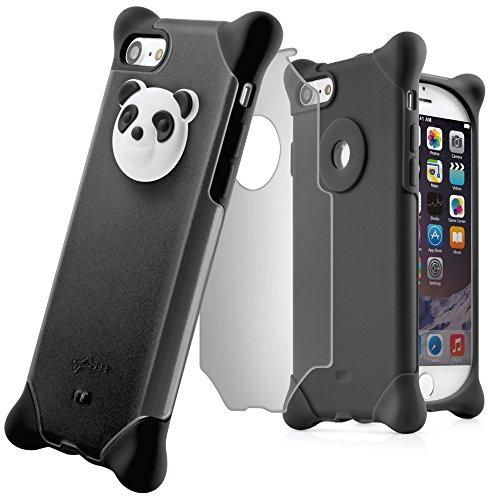 772ea883b3 BoneCollection iPhone7 iPhone8 スマホ ケース パンダ 携帯ケース 【ストラップ 付き シリコン 素材 2層式