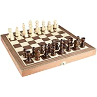 kimaro Chess Set - Wooden MAGNETIC Travel Chess Set with Staunton Pieces and Folding Game Board 10