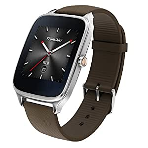 "ASUS 新型 Android Wear スマートウォッチ「ZenWatch 2」1.65"", Silver case with Brown rubber watchband [並行輸入品]"
