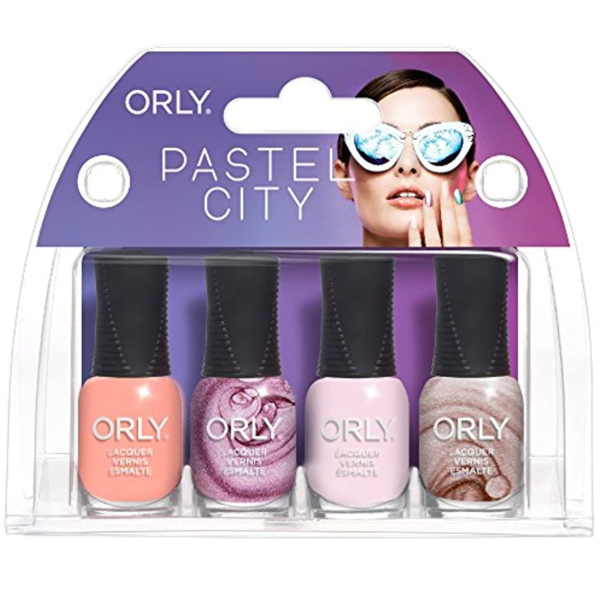 眠り最も早いサイレントOrly Pastel City - Mini 4pc Kit - 0.18oz / 5.3ml Each - 28329