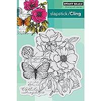 "Penny Black Cling Rubber Stamp 4""x5.25"" Sheet -Botanical Notes (並行輸入品)"
