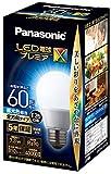 パナソニック LED電球 口金直径26mm プレミアX 電球60形相当 昼光色相当(7.3W) 一般電球 全方向タイプ 密閉器具対応 LDA7DDGSZ6