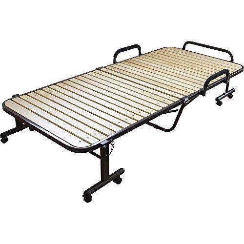アイリスオーヤマ 天然木 すのこベッド  折りたたみ収納可 シングル  ナチュラル OTB-WH 幅98×奥行203.5×高さ45cm