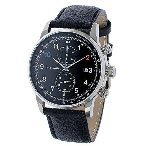 ポールスミス PAUL SMITH 腕時計 P10140 BLOCK メンズ レザーベルト [並行輸入品]