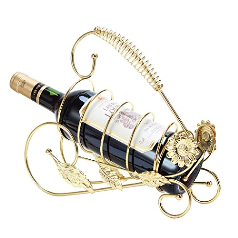 食器ひまわりのワインセットワインラックワインホルダー1本ゴールデンワインまたはシャンパンスタンド