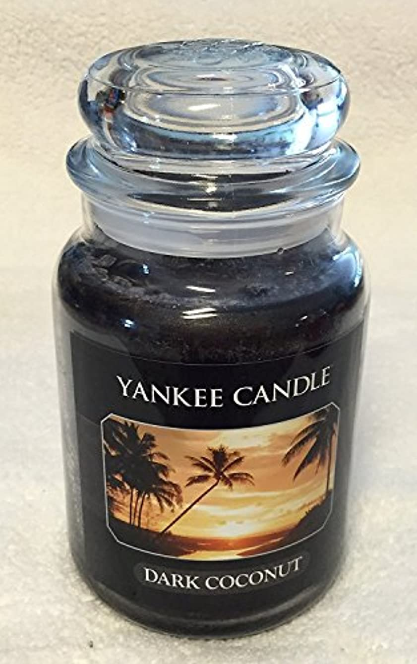 準備した方言ニンニクダークCoconut Yankee Candle Large Jar 22oz Candle