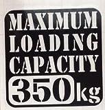 【w-018-350】【1】【黒】【10cm x 10cm】最大積載量350kg 英語表記ステンシルカッティングステッカー
