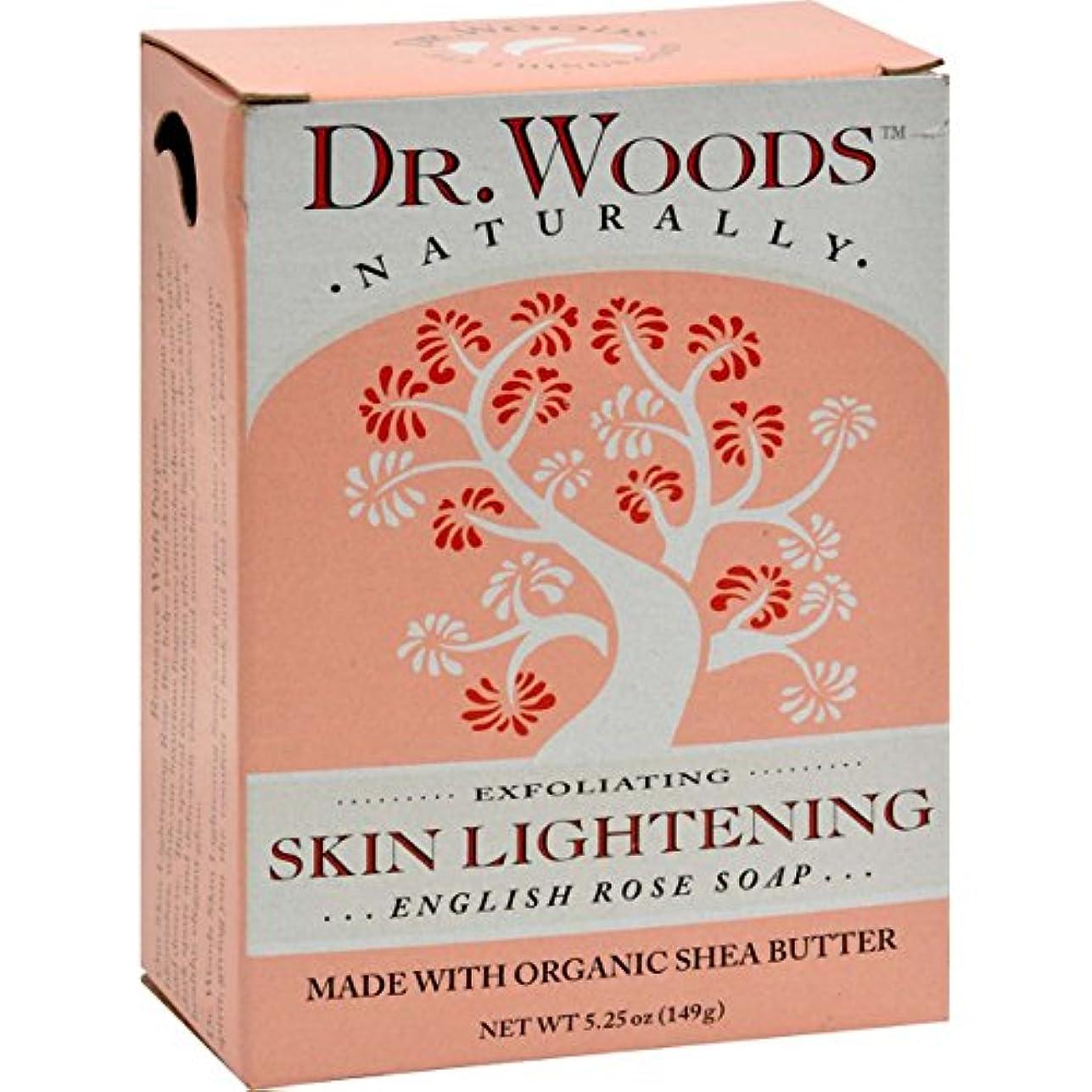これら焦がす肉Dr. Woods, English Rose Soap, Skin Lightening, 5.25 oz (149 g)