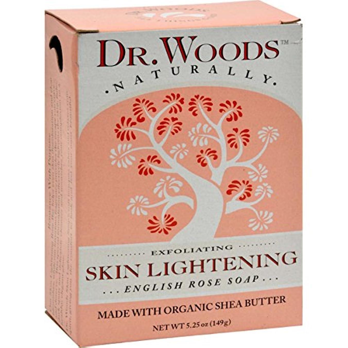 ヒュームスタンド失業者Dr. Woods, English Rose Soap, Skin Lightening, 5.25 oz (149 g)