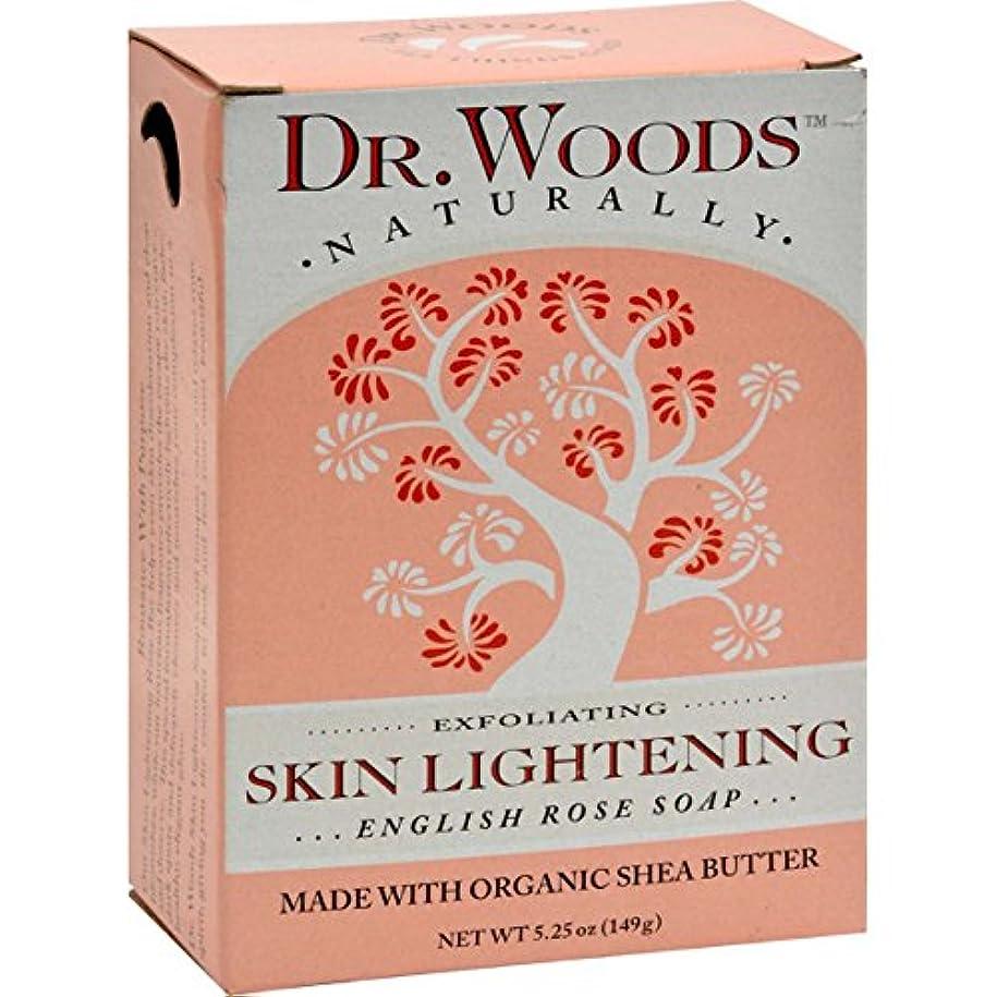 きちんとした投げ捨てる昼間Dr. Woods, English Rose Soap, Skin Lightening, 5.25 oz (149 g)