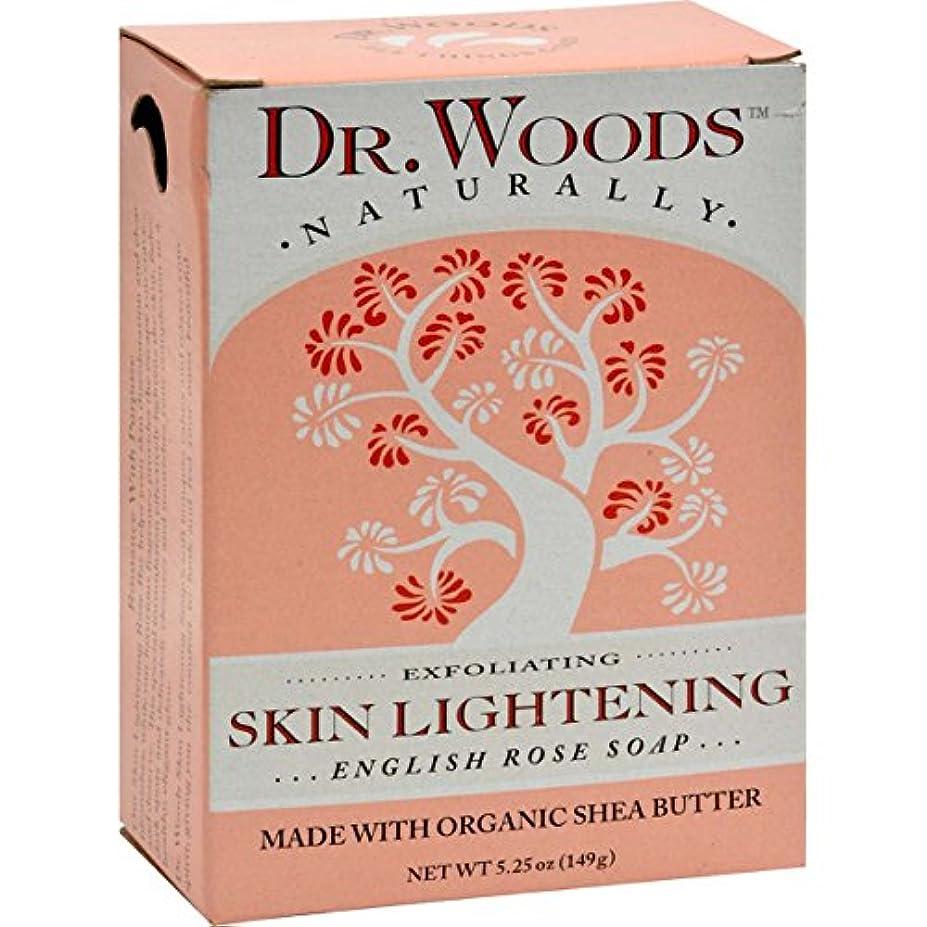 急降下話をするコインDr. Woods, English Rose Soap, Skin Lightening, 5.25 oz (149 g)