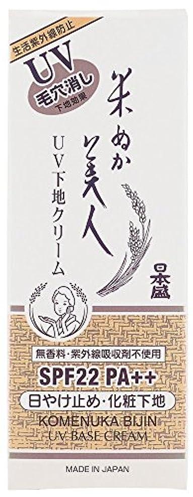 サスペンション押し下げる悔い改め日本盛 米ぬか美人 UV 下地 クリーム SPF22 PA++ 35g