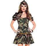 【Barsado】ハロウィン コスプレ 衣装 アーミー ミリタリー 婦人警官 ポリス 迷彩 レディース ミニスカート 迷彩服