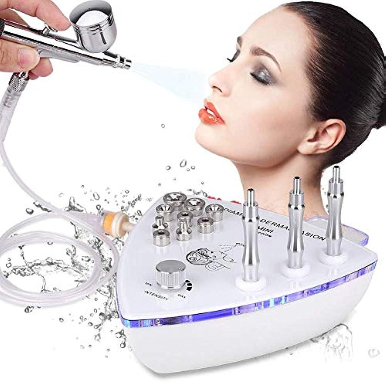 傘引き付けるマリンスプレーガン水と美容機器 - ダイヤモンドマイクロダーマブレーション皮膚剥離機は真空吸引剥離フェイシャルマッサージ、しわフェイスピーリングマシン、顔の皮膚剥離装置スプレー