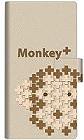 ゼンフォン4 Max ZC520KL スマホケース 手帳型 カバー IA803 Monkey+ 横開き【ノーブランド品】