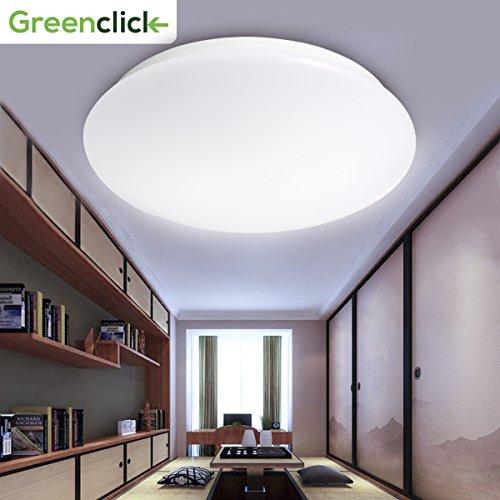 GreenClick ledシーリングライト 小型LEDライト 和風 引掛式玄関 門灯 廊下 和室 台所 洗面所 天井照明 6畳 1500lm 15w 6000k 昼光色 日本語説明書付け