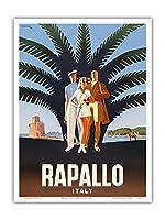 ラパッロ、イタリア - ビンテージな世界旅行のポスター によって作成された マリオ・プッポ c.1947 - アートポスター - 23cm x 31cm