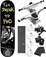 "Baker Skateboards Too Drunk to Phoスケートボード8"" x 31.5"" Complete Skateboard–7項目のバンドル"