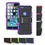 iPhone 6sケース、hlct丈夫な耐衝撃デュアルレイヤーケース付きキックスタンドfor iPhone 6s / 64.7インチ iPhone 6s/6