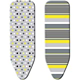 """Minky SmartFit Reversible Ironing Board Cover, 49"""" x 18"""", Multicolor"""
