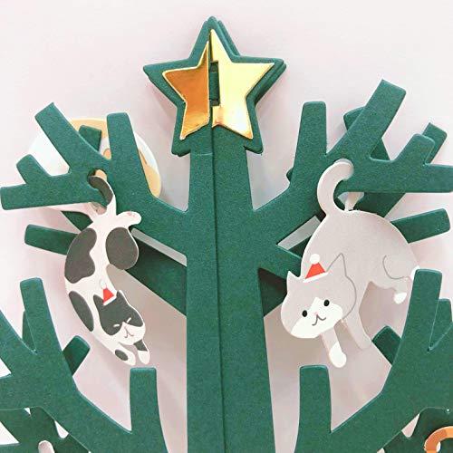 『サンリオ クリスマスカード 洋風 立体 ネコツリー S7193』の2枚目の画像