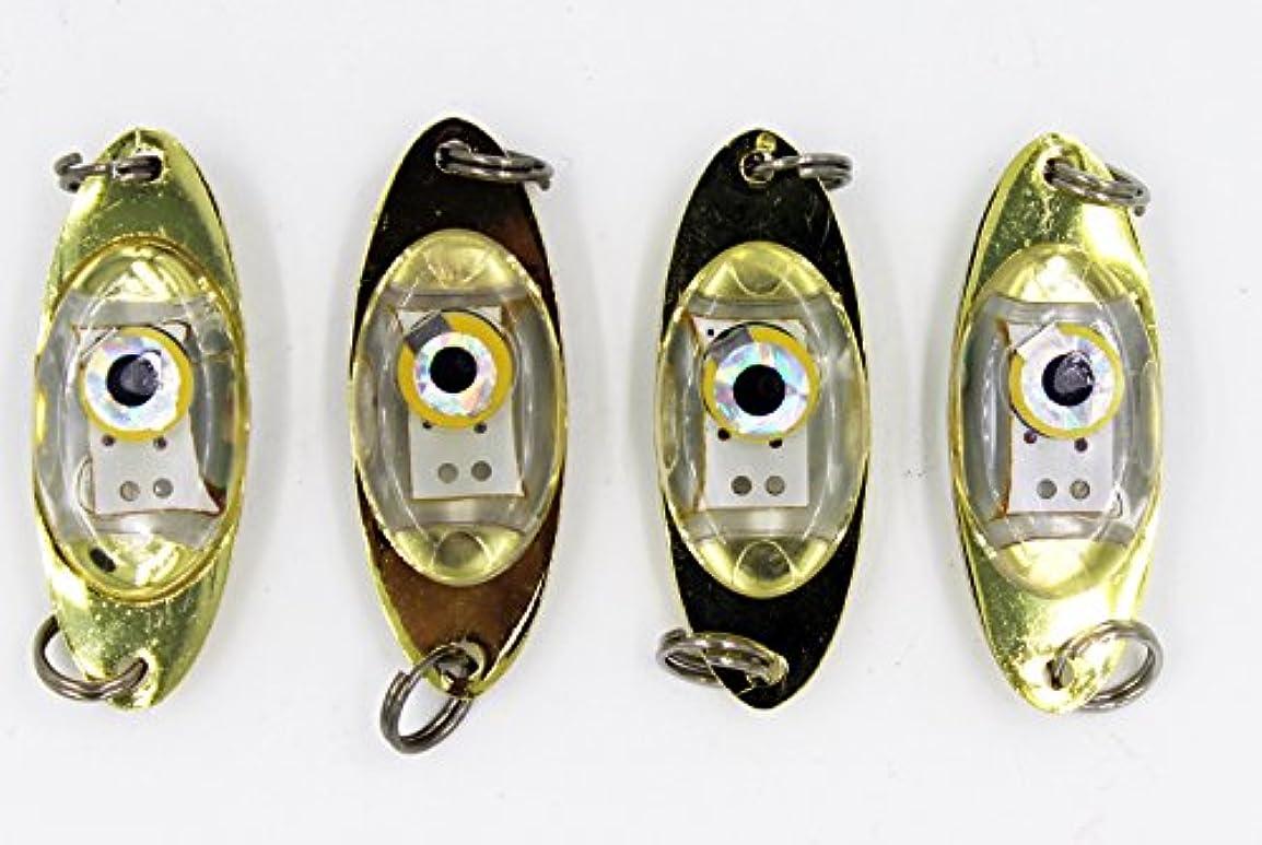 カテゴリーホット危機爆釣 水中 LED 集魚灯 ジグ ルアー ヘッド タイプ 自動点灯 水深600m 4色セット