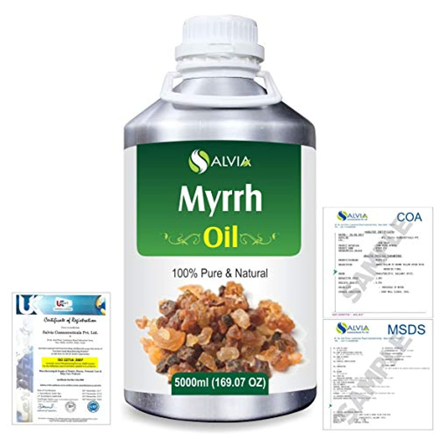 シティ並外れたペットMyrrh (commiphora myrrh) 100% Natural Pure Essential Oil 5000ml/169fl.oz.