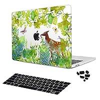 バチアンダ 芝生 動物 水彩画 プラスチック ハードシェル カバーケース New MacBook Air Retina 13 2018 (A1932) マルチカラー PGM-A1932-J016