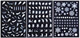 starPG レジン 樹脂 封入用 フィルム イラスト アクセサリー デコ素材 3枚セット (羽毛・妖精・雪)