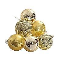 Lacyie 6pcs クリスマスボール クリスマス ツリー飾り ボール クリスマス オーナメント ボール ツリー デコレーション 華やか オーナメント カラーボール飾り ディザー球 おしゃれ