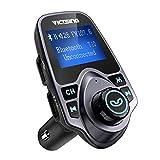 VICTSING FMトランスミッター Bluetooth 高音質 ワイヤレス発信機 Bluetoothレシーバー 高音質 TFカード&USBメモリーカード対応 USB2ポート ディスプレイ表示 スマホ充電可 スマホ ラップトップ タブレット 全機種Bluetooth対応 技適認証済み 18ヶ月間メーカー保証