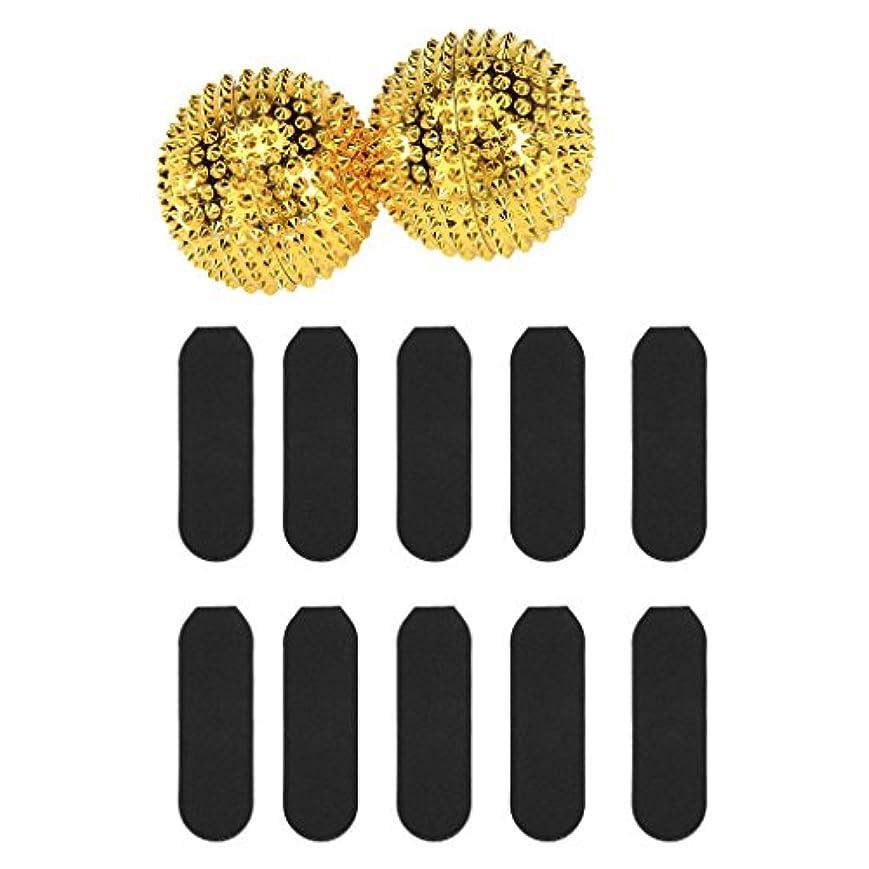 バズきゅうり背景マッサージ用 刺激 ボール + 10枚 サンドペーパー デッド スキン カルス リムーバー ツール