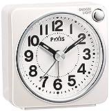 セイコー クロック 目覚まし時計 アナログ PYXIS ピクシス 白 パール NR437W SEIKO