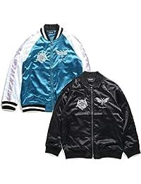 【18AA08-BK/BL】 ゼファレン Zephyren スタジャン ジャケット アウター 長袖 大きいサイズ