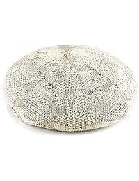 【ノーブランド品】 no brand (カラー:ベージュ ) 帽子 柄サーモベレー 模様編み サーモ ベレー帽 レディース メンズ 春 夏 男女兼用 アーガイル ダイヤ