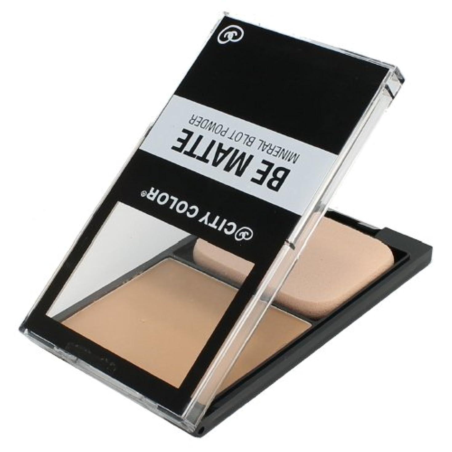 浴室馬鹿フォルダ(3 Pack) CITY COLOR Be Matte Mineral Blot Powder - Translucent (並行輸入品)