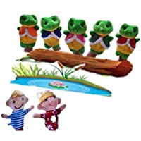 ychoice面白いFinger Puppets Toy Story Telling 7個袋バッグFinger Puppets Nursery Rhyme Fairy Tale Aussieおもちゃ子供ギフトPresent ( Five Little Speckled Frogs )