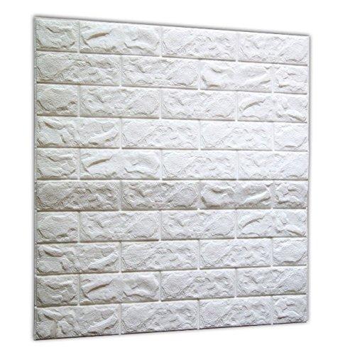 vegonia(ベゴニア) ブリック タイル レンガ 壁紙シール 70cm×77cm ブリックステッカー 軽量レンガシール 壁紙シール アクセントクロス ウォールシール はがせる 壁シール (1枚)