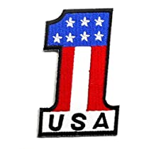 【ノーブランド品】アイロンワッペン ワッペン 国・国旗ワッペン 刺繍ワッペン アメリカ USA AMERICA アイロンで貼れるワッペン
