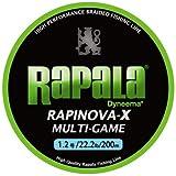 Rapala(ラパラ) PEライン ラピノヴァX マルチゲーム 200m 1.2号 22.2lb ライムグリーン RLX200M12LG
