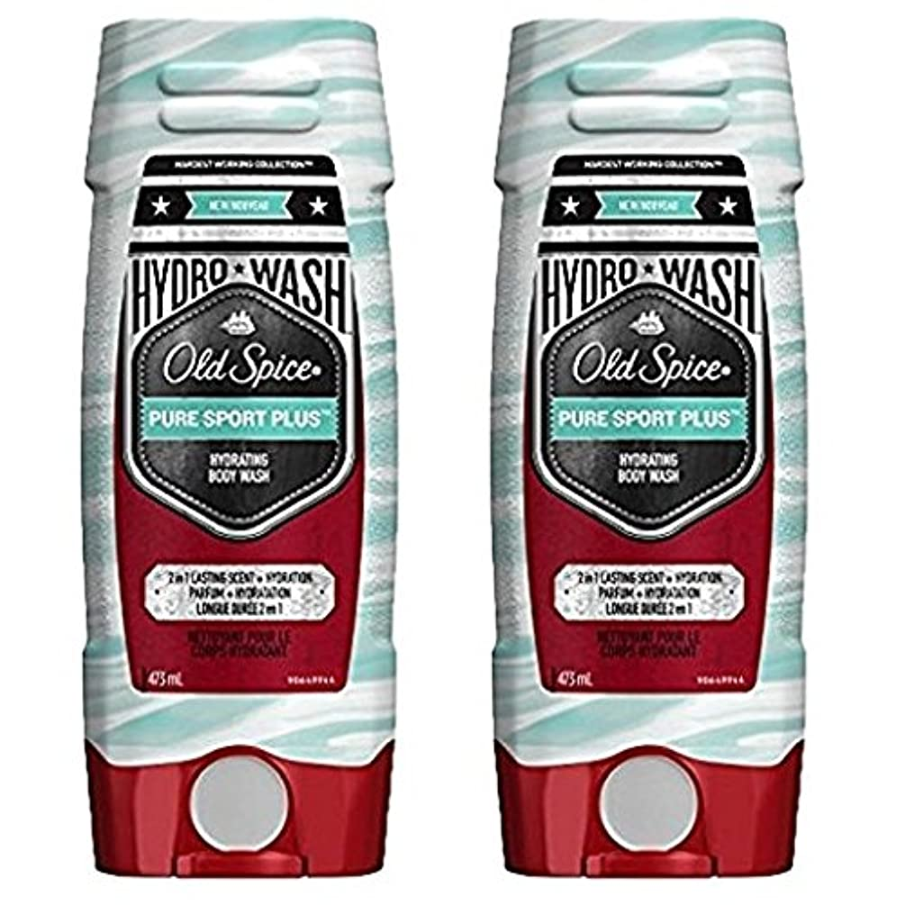 サーキュレーション作曲する暗殺者海外直送品 Old Spice Hydro Wash Body Wash Hardest Working Collection Pure Sport Plus 16 Oz, 2 Pack ボディーソープ 2本